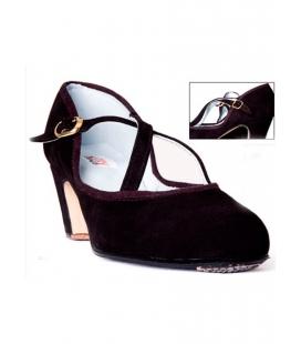 Chaussures de danse en daim, bandes croisées