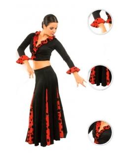 Jupe de flamenco pour filles EF105