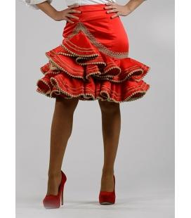 jupe de flamenco courte