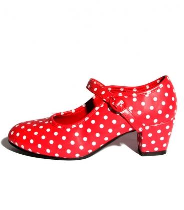 Chaussure de flamenco à pois