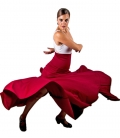 Jupe de Danse Flamenco, Mod: 8 Godet, Taille Haute