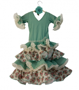 Robes de Flamenco Fille, Taille 4