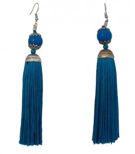 Boucles d'oreilles billes et franges - Accessoires flamenco