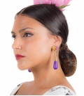 Boucles d'oreilles Flamenco Larme - Accessoires flamenco