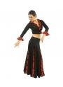 Jupe de flamenco, modèle EF105 Mme