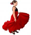 Jupe De Flamenco Pour Filles 8 Godet