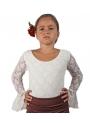 Top de Flamenco dentelle Pour Fille