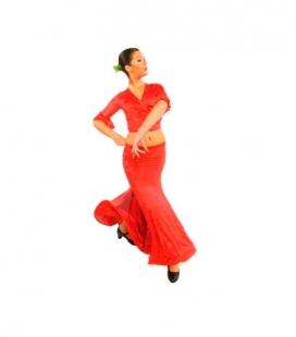 Jupe de flamenco fille E-3953