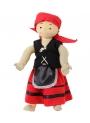 Falda pastora Roja