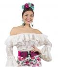 Chemisier de flamenco en dentelle