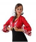 Boléro de flamenco brodé pour femme