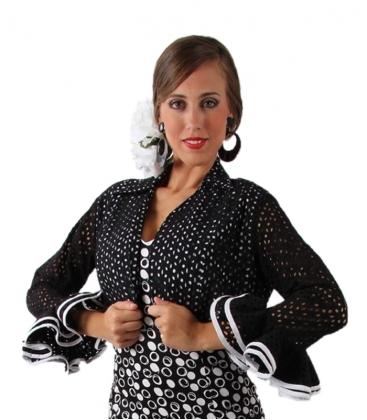 Boléro de flamenco perforé
