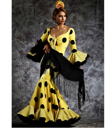 Robe Espagnole De Flamenco Hinojo