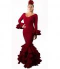 robes de flamenco bourdeaux