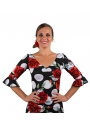 Hauts de danse Flamenco avec roses motifs