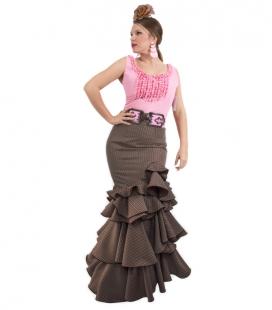 jupe de flamenca en marron