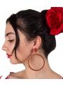 pendientes de flamenco de aro