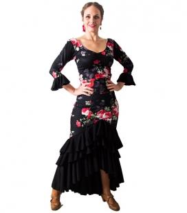 Jupe de Danse Flamenco Taconeo Imprimées