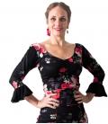 Flamenco Haut à Fleurs Motifs