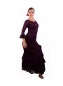 Ensemble de danse Flamenco Pour Femme - Salón Aubergine
