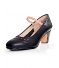 Chaussures de danse noir en cuir et clous