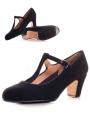 Chaussure de danse flamenco, sangle à boucle