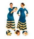 Jupe de flamenco EF084 fille