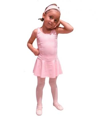 Malla con falda para niñas pequeñas