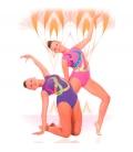 malla de gimnasia ritmica