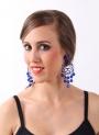 Boucles d'oreilles en acétate et multifacettes