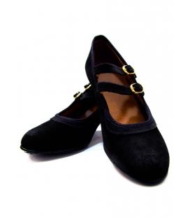 Chaussures De Flamenco De Daim