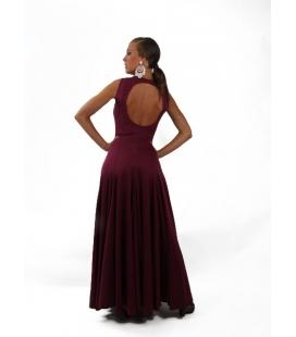 Robe de flamenco Bailaora en tissu uni