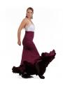 Falda baile mod. EF243 (punto-crespon)