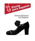 Fleur Camelia pour chaussures de flamenco