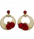 pendientes flamencas rojos