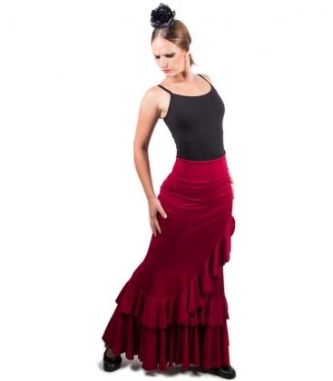 Sharplace Jupe Flamenco Ballroom Danse Robe Jupe Courte Balan/çoire V/êtement D/éguisment Femme