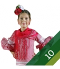 Taille 10 robe de flamenco fille